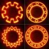 Semnalizator LED pentru spite cu diferite moduri de iluminare