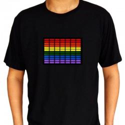 Tricou egalizator cu baterii, Multicolor