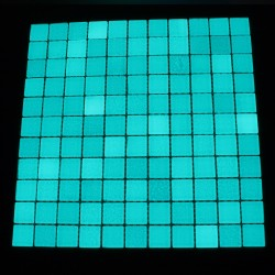 Mozaic fosforescent care lumineaza aqua, 30x30 cm, decoratiune glow