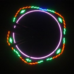 Ventil luminos 7 leduri cu 12 jocuri de lumini