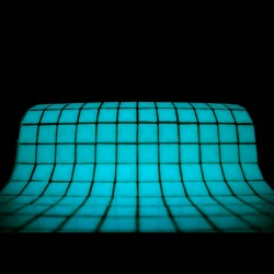 Mozaic fosforescent care lumineaza aqua, 30x30 cm, decoratiune glow