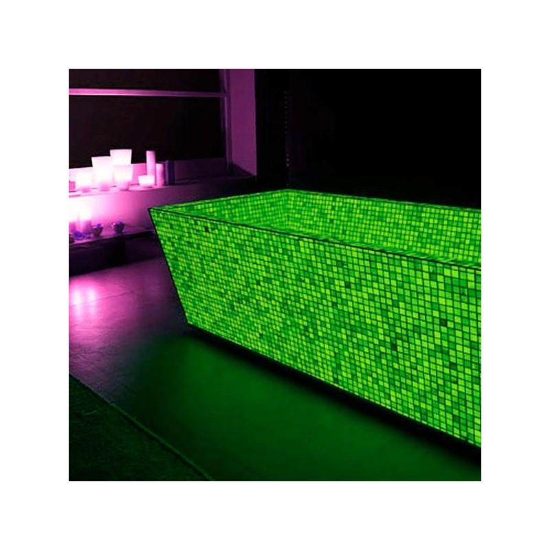 Mozaic fosforescent verde pentru decor glow in the dark, 30x30 cm
