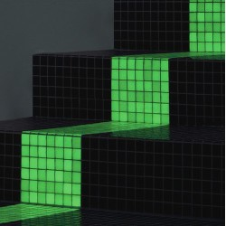 Mozaic fosforescent verde pentru decor glow in the dark, 30x30 cm