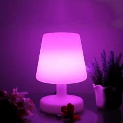 Veioza decorativa LED RGB, telecomanda control, acumulator, 4 moduri iluminare