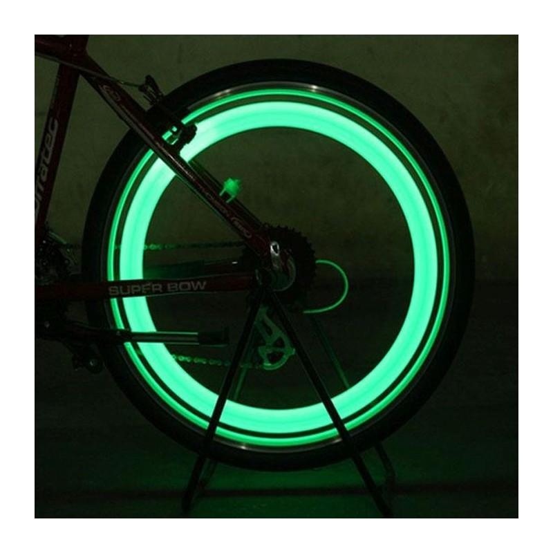 Lumina ventil tip licurici pentru bicicleta, senzor miscare, set 2 bucati