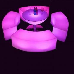 Scaun LED, RGB, 5V, IP65, telecomanda, 120x40x40