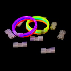 Bratara luminoasa, 3 betisoare luminoase si conector, accesoriu glow