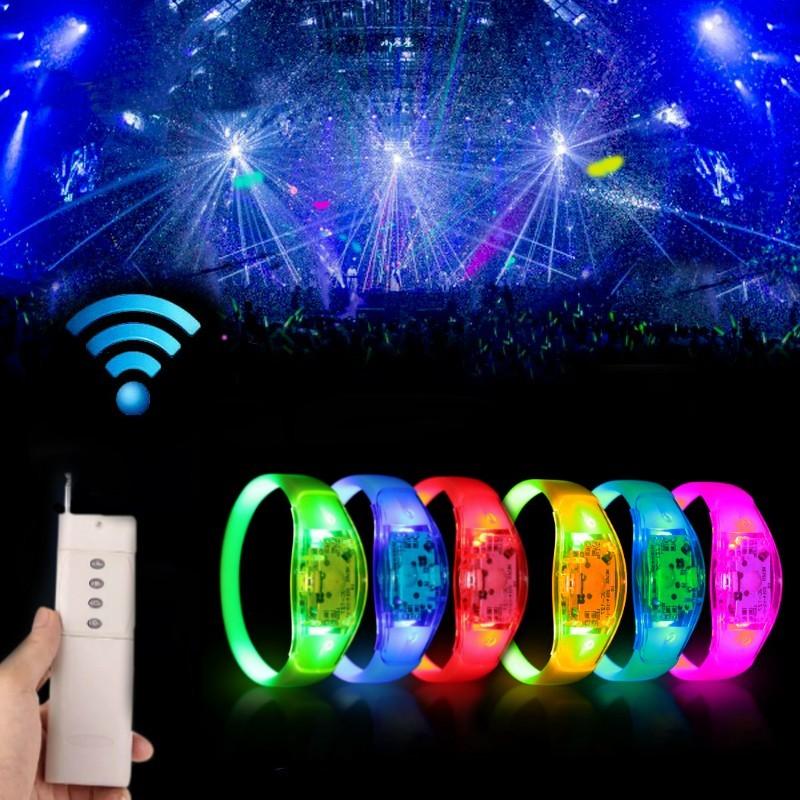 Bratara luminoasa cu LED-uri, party glow, 3 moduri iluminare, comutator