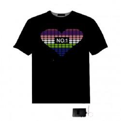 Tricou cu egalizator multicolor forma inima No. 1
