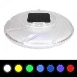 Lampa solara plutitoare, LED RGB, alimentare duala, diametru 18 cm, IP68, ABS