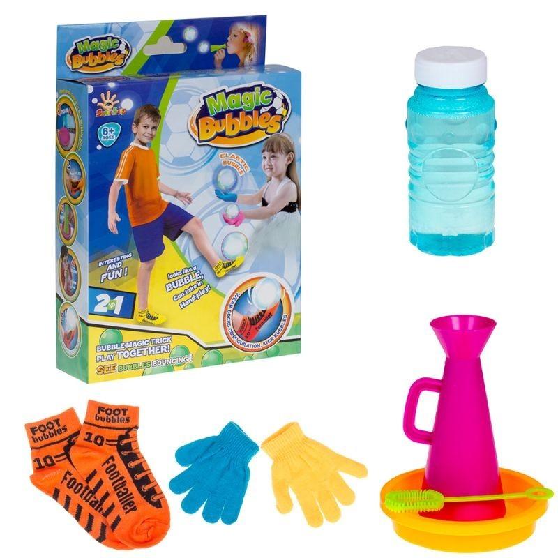 Set fotbal cu baloane de sapun, 5 accesorii