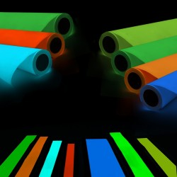 Folie de vinil fosforescenta neon colorata
