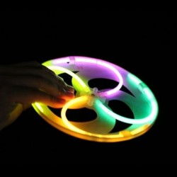 Jucarie Frisbee disc zburator luminescent glow, 19 cm, ABS