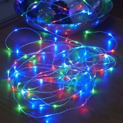 Fir cu lumina ambientala, 30 LED-uri multicolore, decor glow, buton on/off