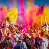 Pudra holi UV color pentru petreceri glow, tub 40 cm