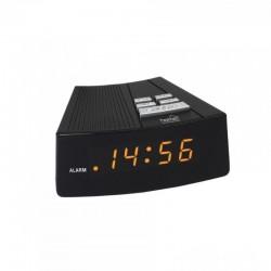 Ceas desteptator de birou, 230V, afisaj digital LED, ora 24 h, negru, Home