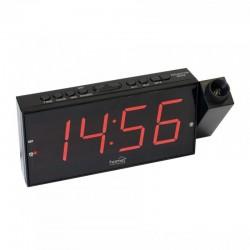 Ceas digital cu proiector LED, 230V, alarma, functie memorare ora, Home