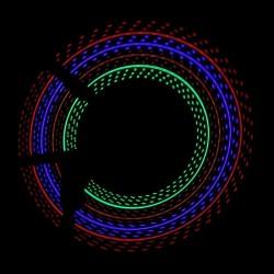 Lumina spita bicicleta 32 LED-uri, 4 culori, 30 modele glow, baterii AAA
