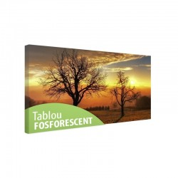 Tablou canvas fosforescent Trees in the Sunset, 40x20 cm