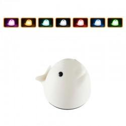 Lumina de veghe, 6 LED-uri, 3 moduri iluminare, model Balena, silicon