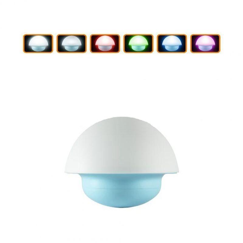 Lampa de veghe LED, model Ciuperca, alimentare baterii, 3 moduri iluminare