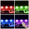 Lumina ambientala LED RGBW 7.2W, 16 culori, 4 piese, telecomanda control, IP20