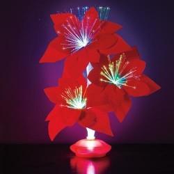 Craciunita decorativa cu fibra optica, LED-uri multicolore, 8 moduri iluminare