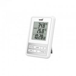 Statie meteo LCD, temperatura, ora, functie alarma, de interior/exterior