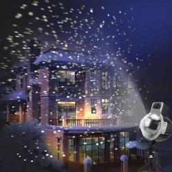 Proiector LED cu efect fulgi de zapada, 4W, timer, exterior/interior