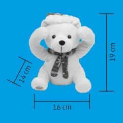 Ursulet de plus Peek-a-Boo, alimentare baterii, inaltime 19 cm, Home