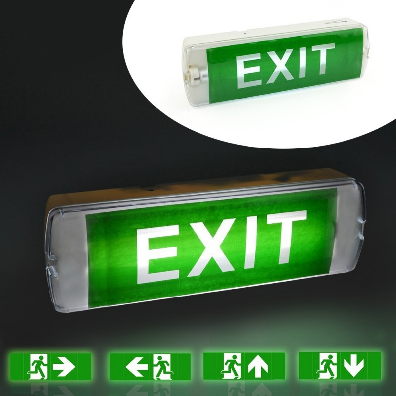 Lampa EXIT 18 LED-uri 0.1W, permanenta, IP20