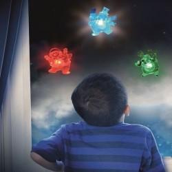 Decoratiune fereastra Om de zapada, LED multicolor, 9 cm, ventuza, Home