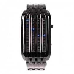 Ceas cu LED Matrix metalic