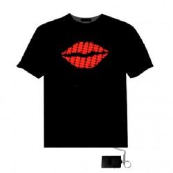 Tricou luminos cu egalizator Red Lips