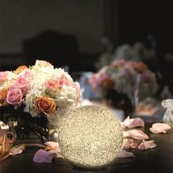 Glob luminos pentru decor, 2 LED-uri lumina calda, 15 cm, alimentare baterii