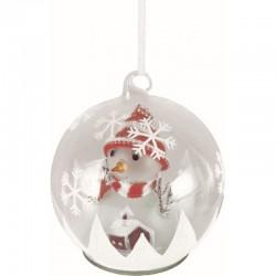 Glob cu LED si figurina Om de Zapada, sticla, diametru 13 cm, baterii