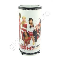 Lampa veioza cilindrica trupa Hannah Montana pentru camera copil