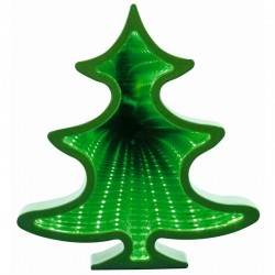 Figurina luminoasa Bradut, efect tunel infinit, 56 LED-uri, 22 cm