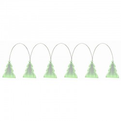 Ghirlanda decorativa LED, 6 ornamente efect tunel infinit, 1 m, comutator