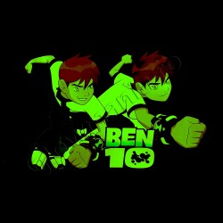 Sticker decorativ glow Ben 10 fosforescent XXL
