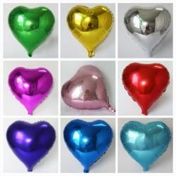 Balon folie inimioara, roz metalizat, petreceri tematice, inaltime 40 cm