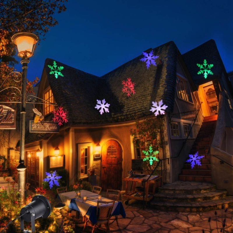 Proiector LED exterior cu fulgi de zapada