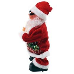 Figurina muzicala Mos Craciun, danseaza Jingle Bells, inaltime 28 cm