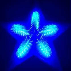 Decoratiunea luminoasa LED, figurina Stea, 50 cm, alimentare retea, albastru