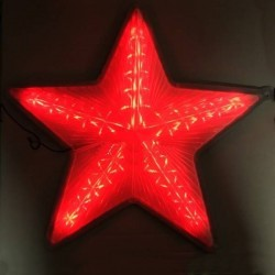 Stea luminoasa rosie LED, decor pentru Craciun, 30 cm, ABS