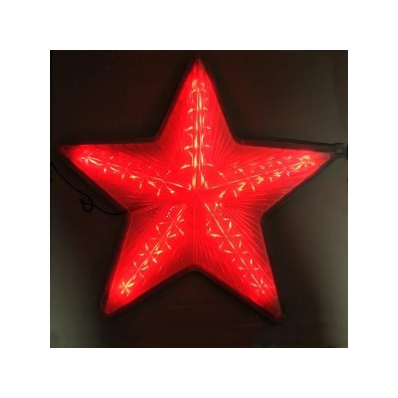 Stea luminoasa rosie, decor pentru Craciun, 30 cm, ABS
