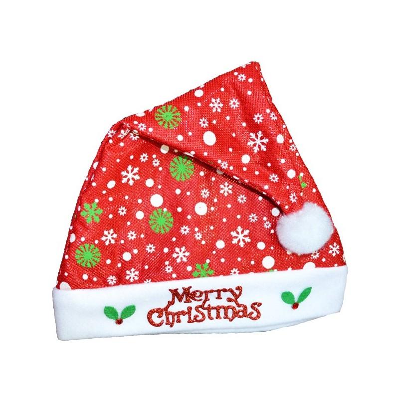 Caciula Mos Craciun, mesaj Merry Christmas, material textil, unisex