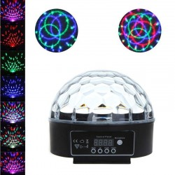 Proiector LED RGB 18W, 120 grade, control sunet, telecomanda, interior