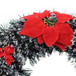 Coronita brad artificial, varfuri albe, Merry Christmas, diagonala 24 cm