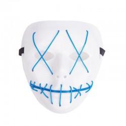 Masca horror Purge, fir El Wire, 3 moduri iluminare, unisex, marime universala